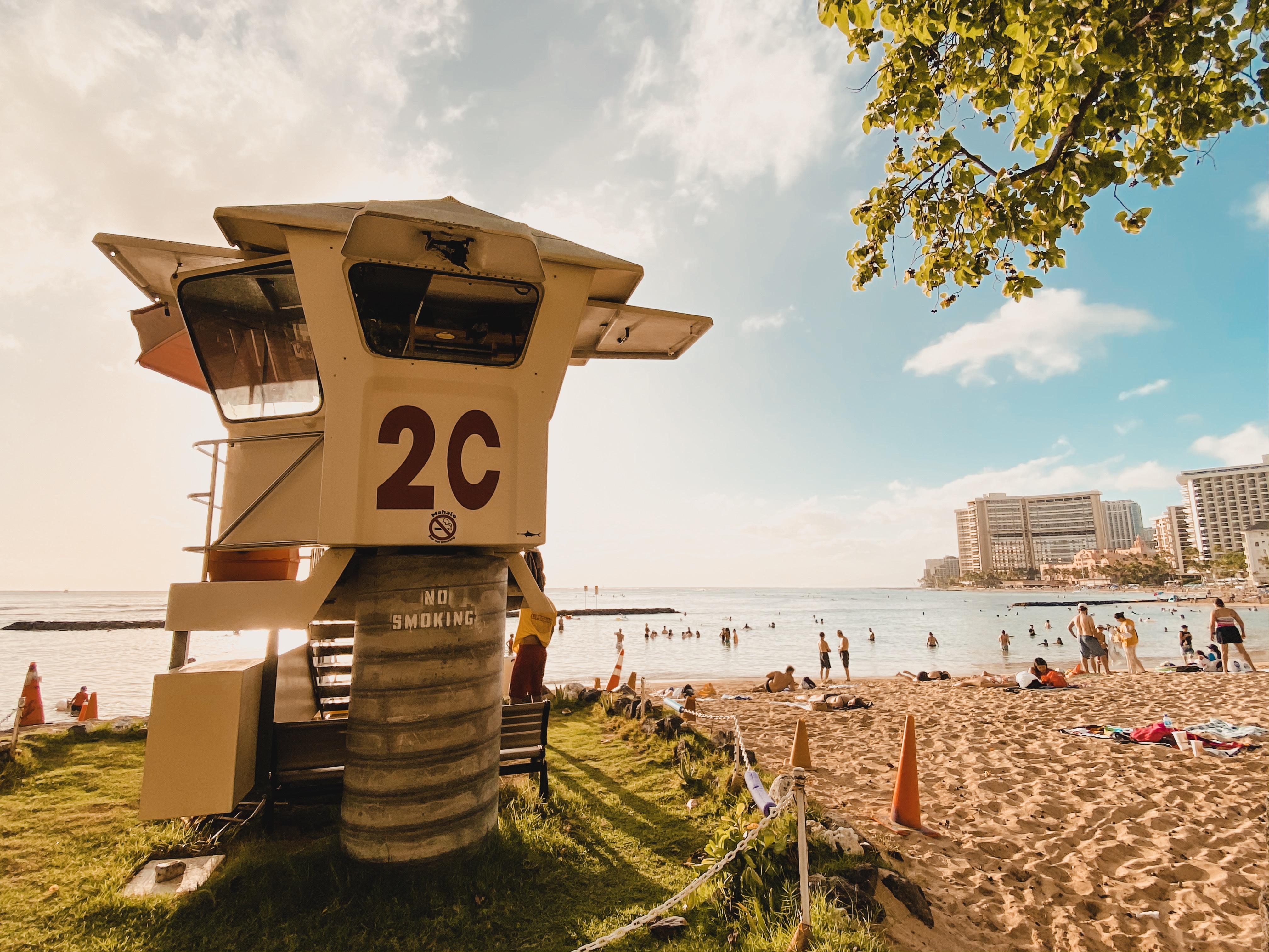 Waikiki beach sun and sand