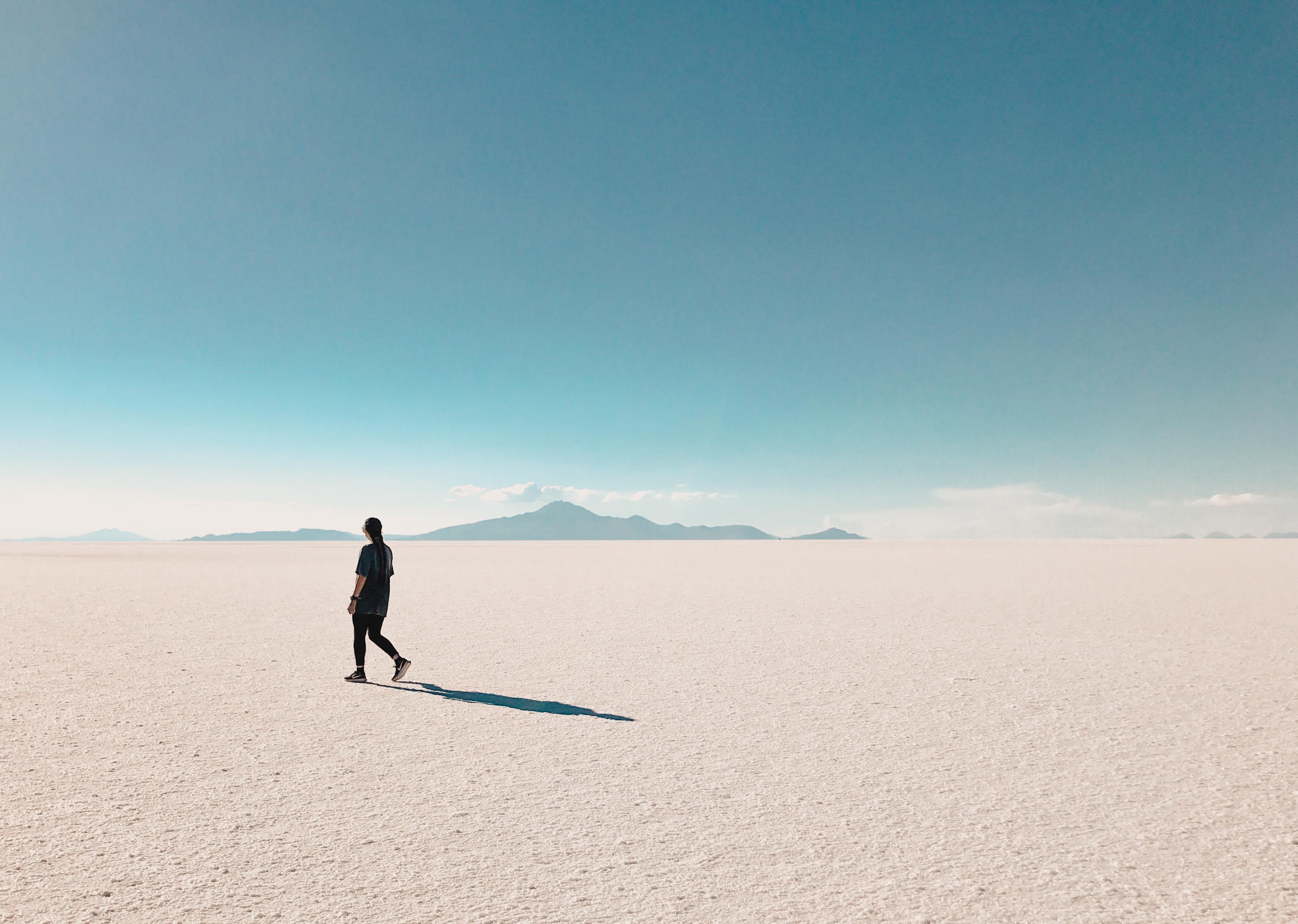 Salt lake in Bolivia