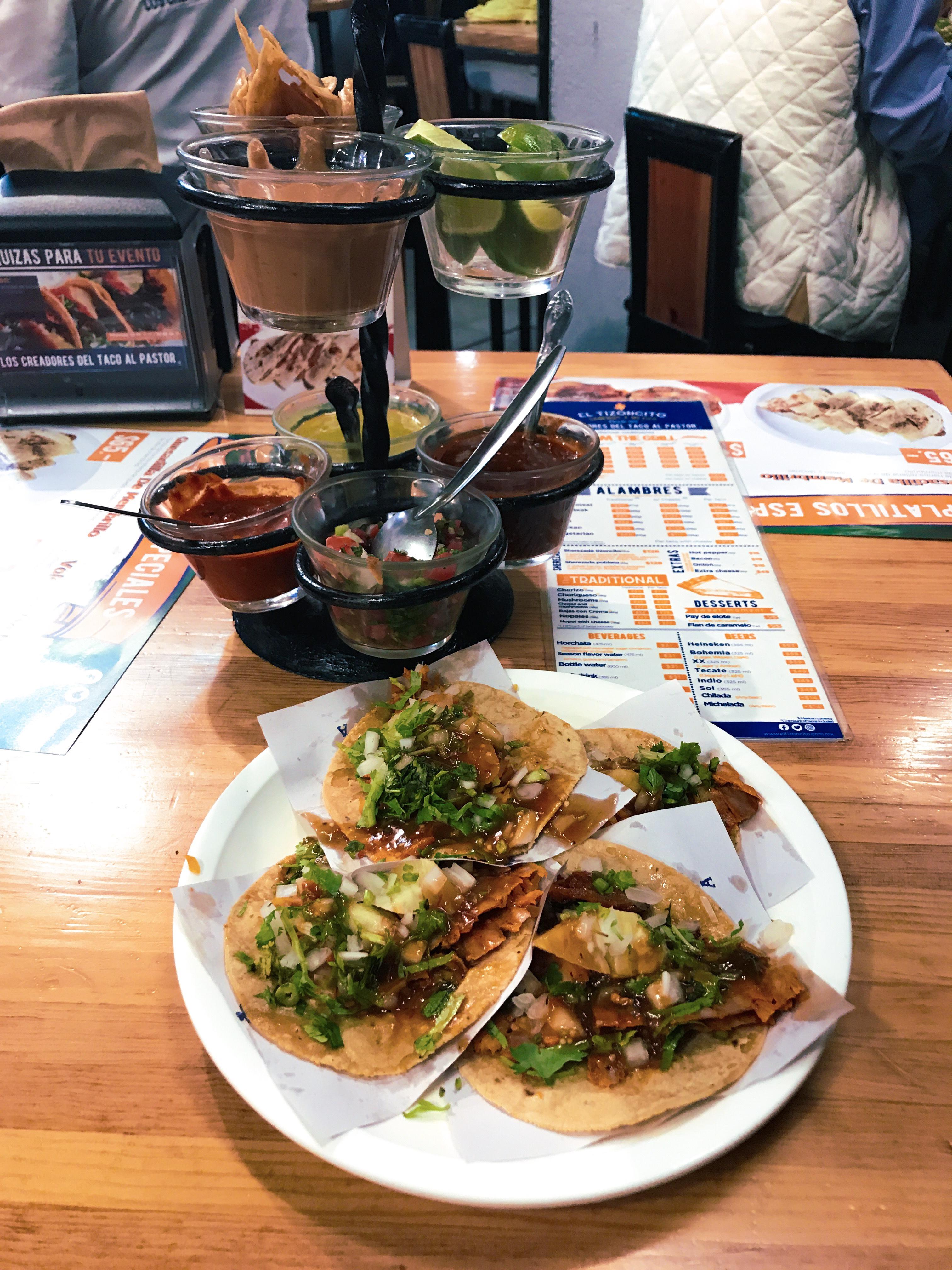 tacos al pastor at midnight