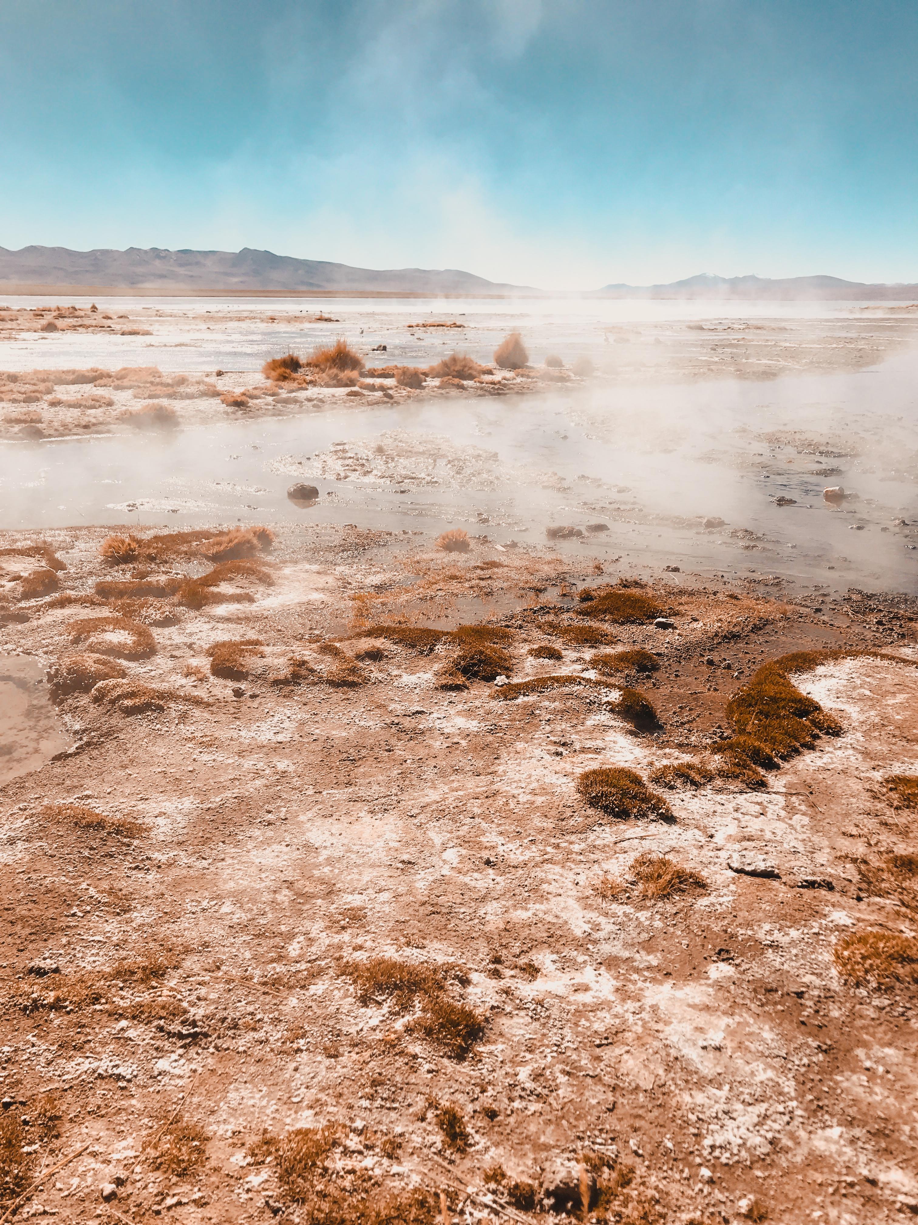 Hot springs in desert