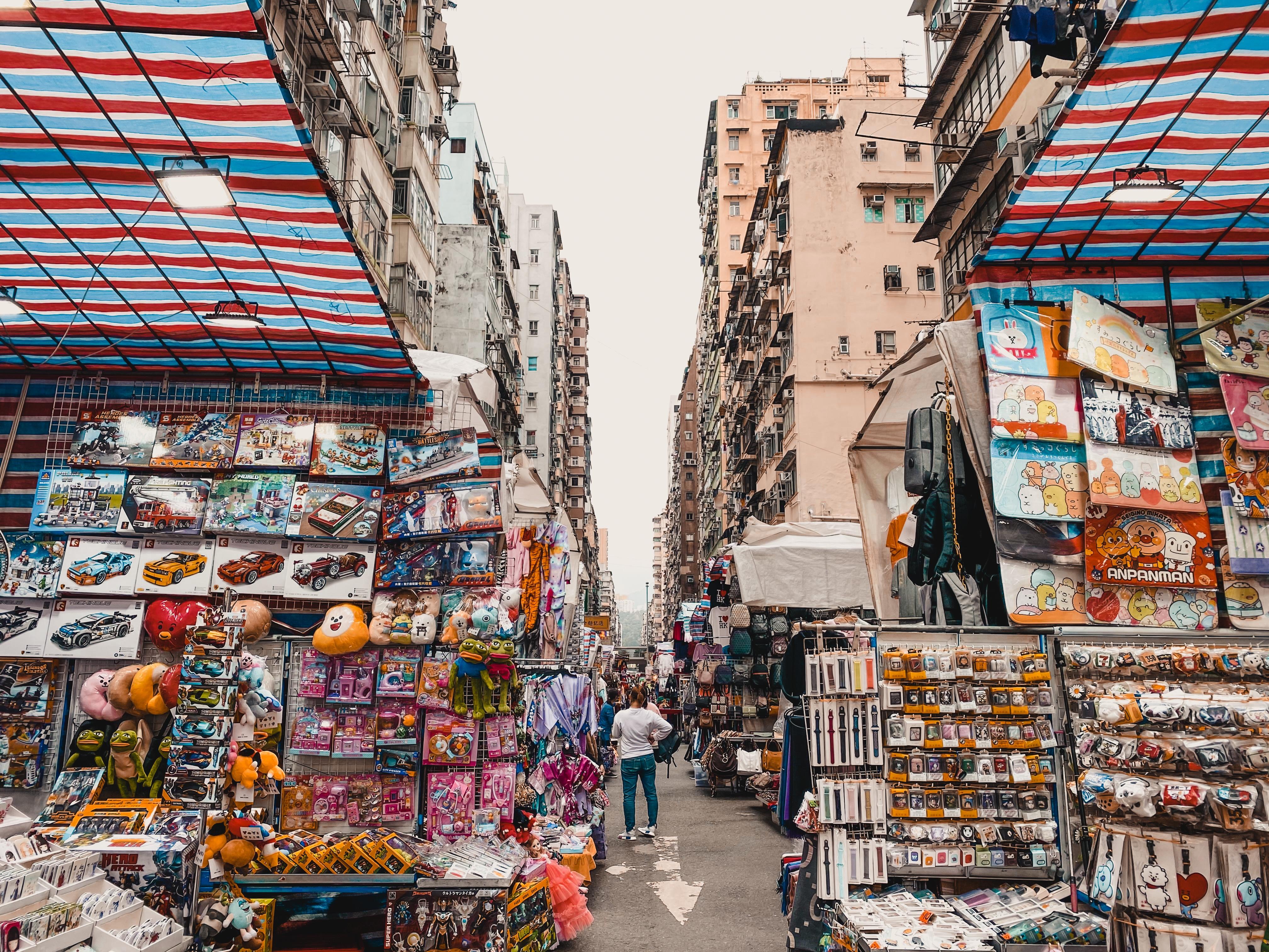 Mong Kok ladies market souvenirs
