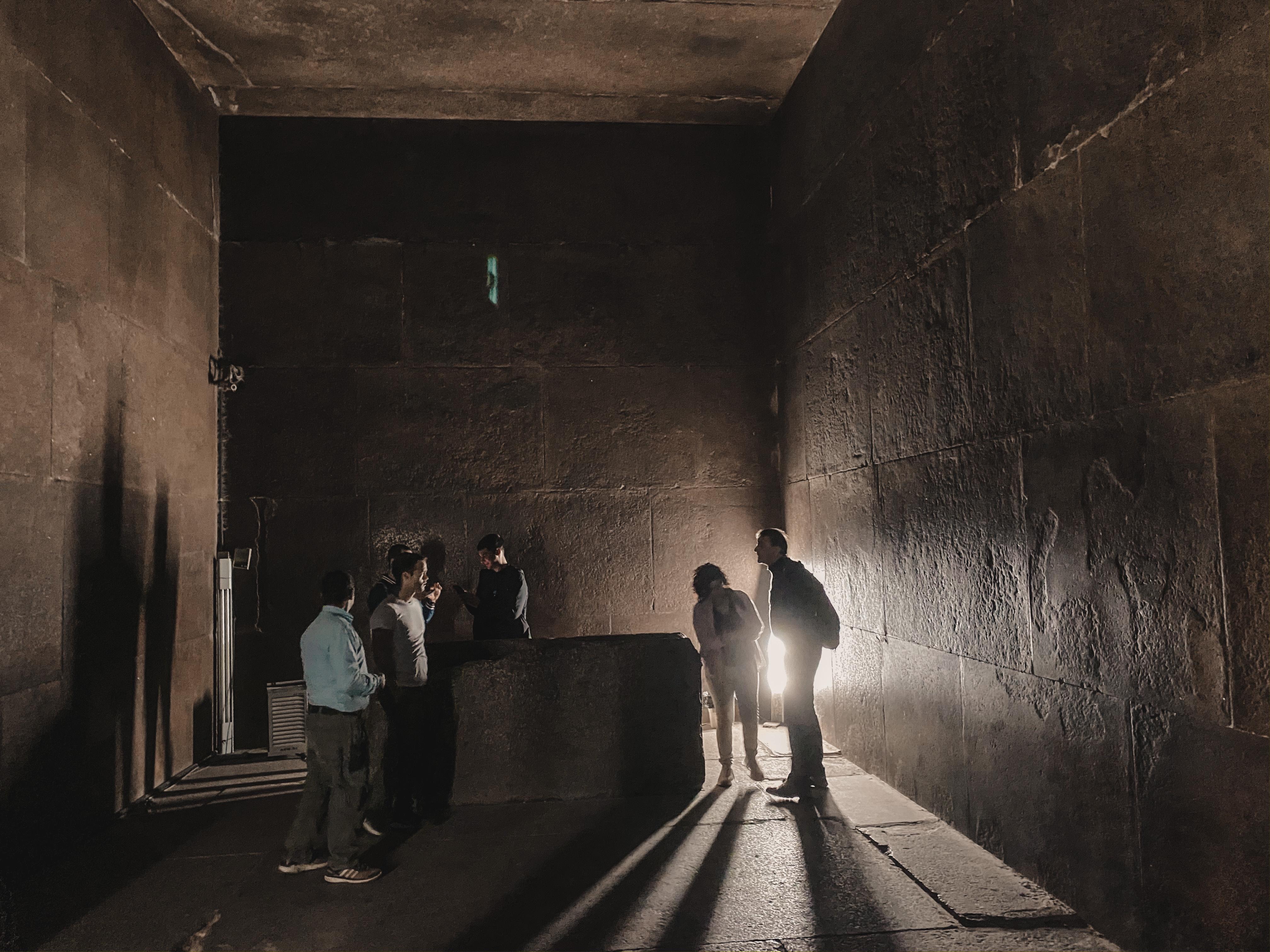 room inside pyramids Egypt Cairo
