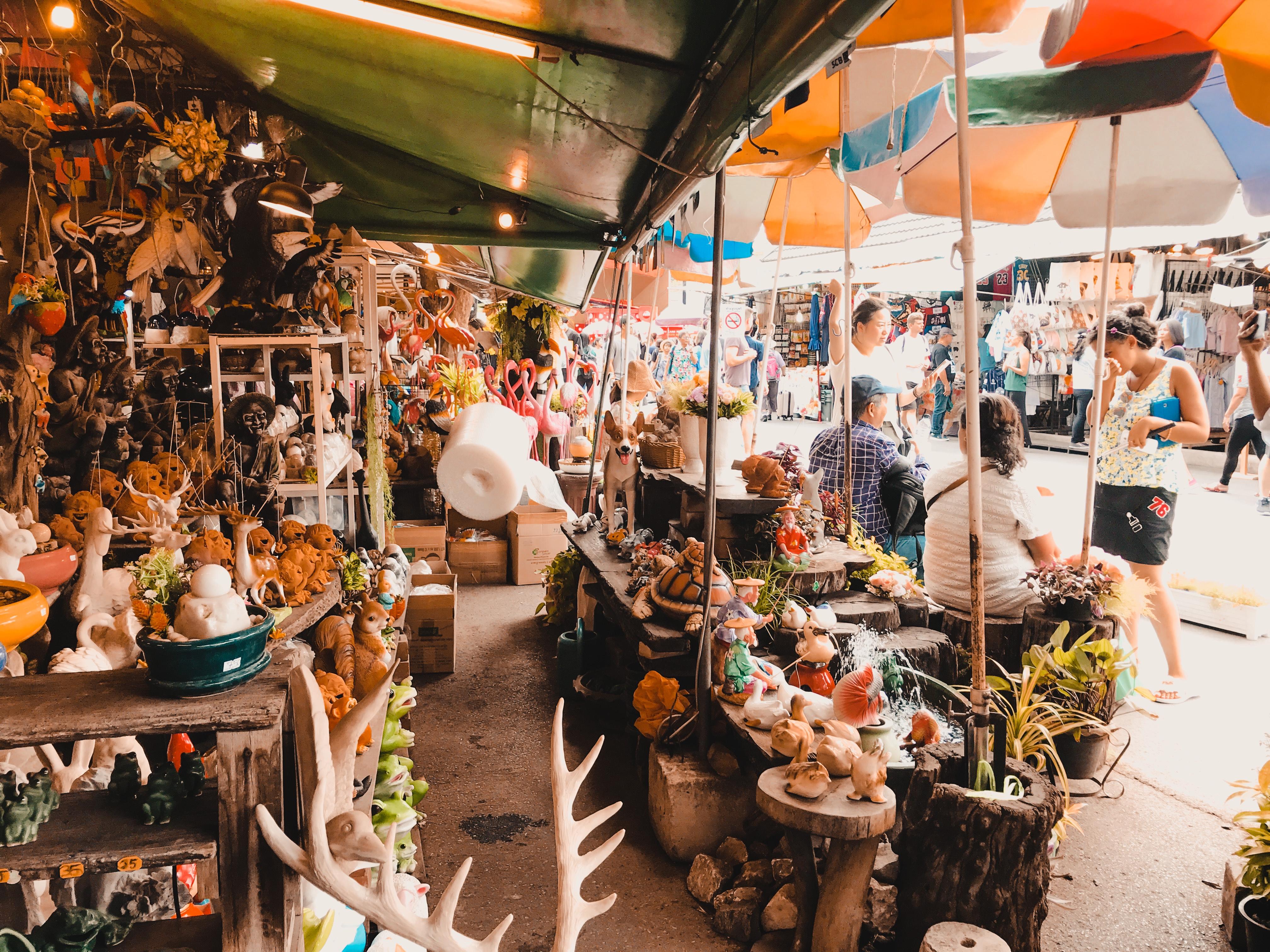 Chatuchak market stalls, Bangkok