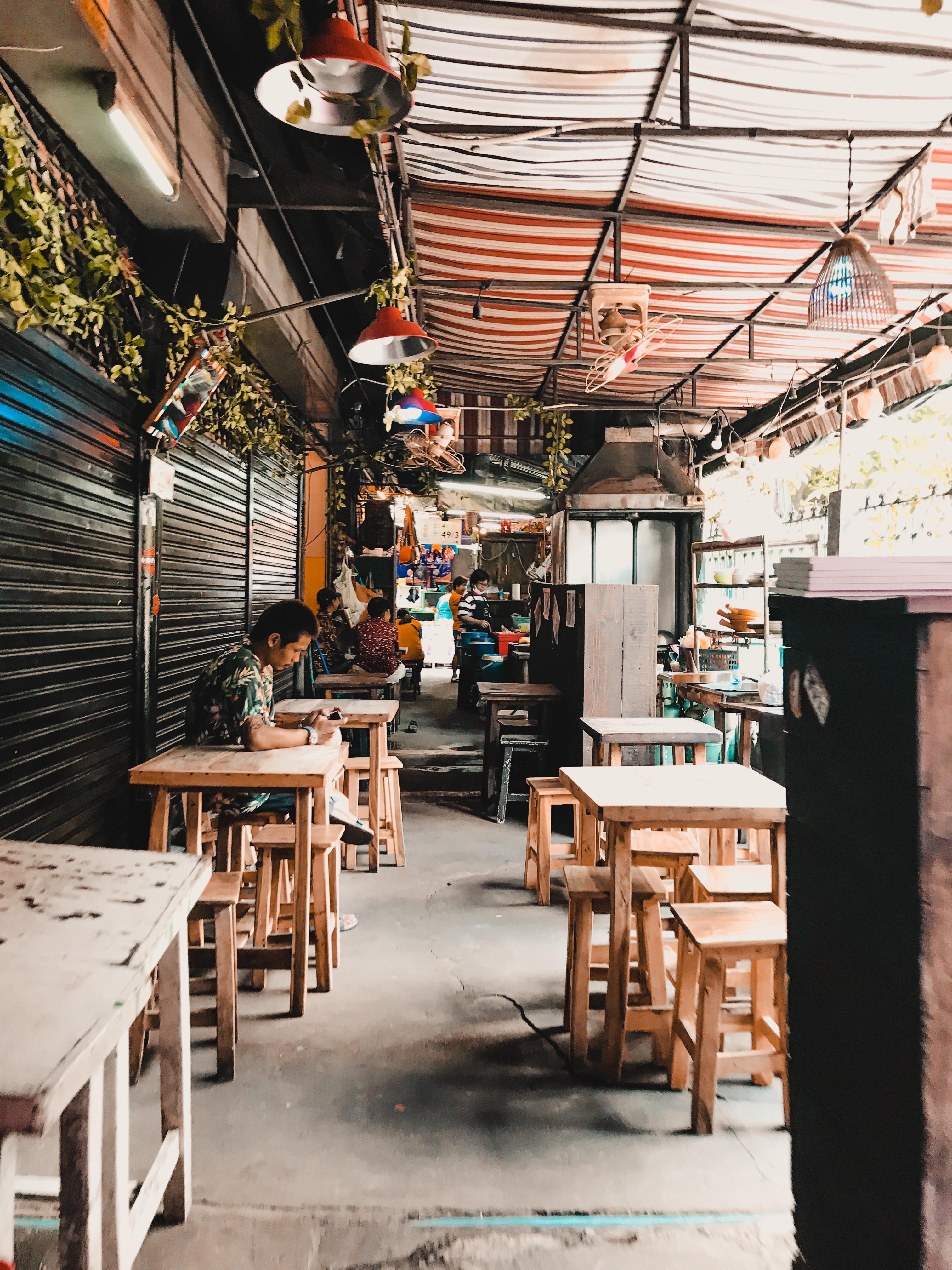cafe stalls, Bangkok