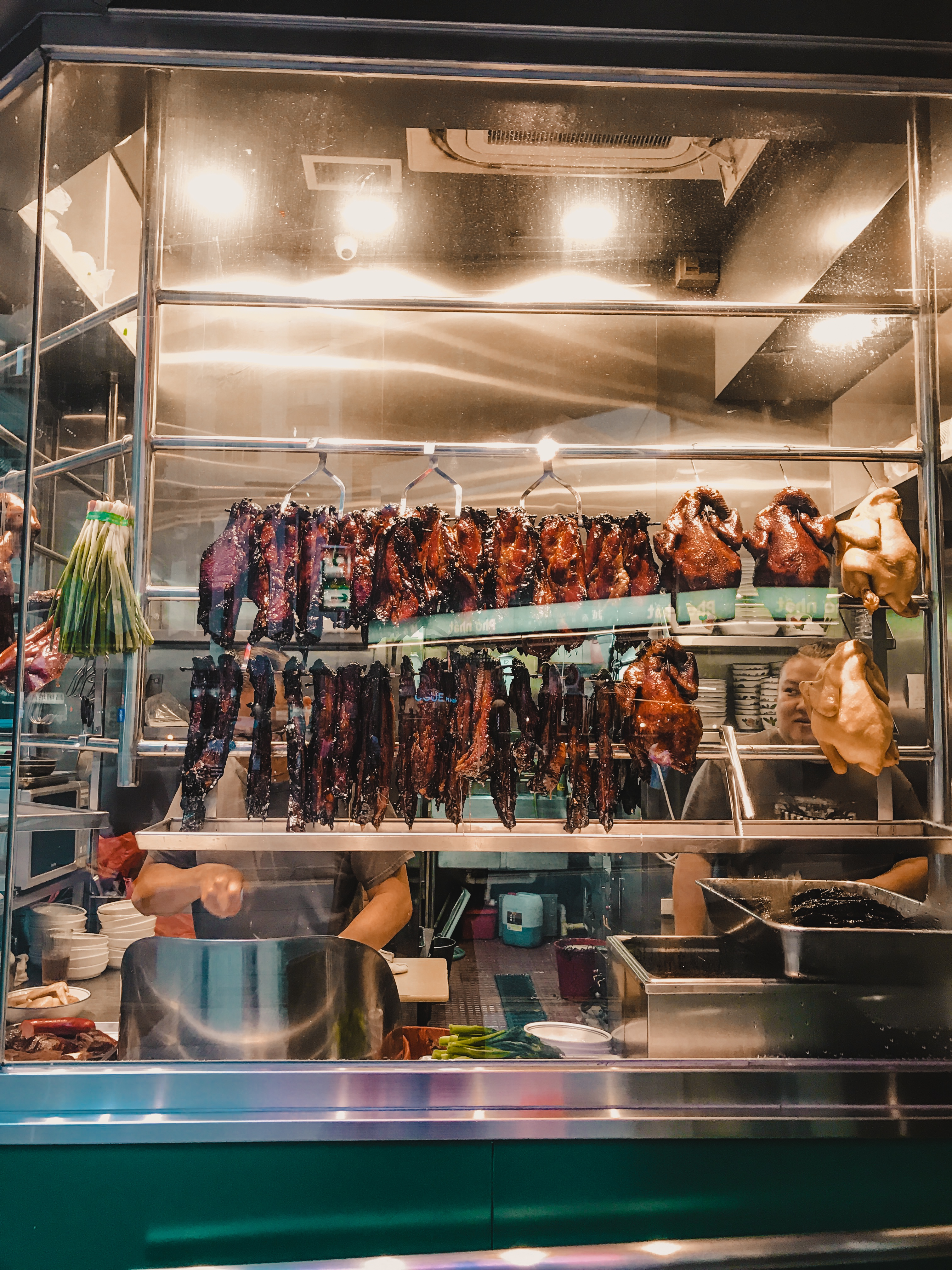 BBQ meats out on display in Hong Kong