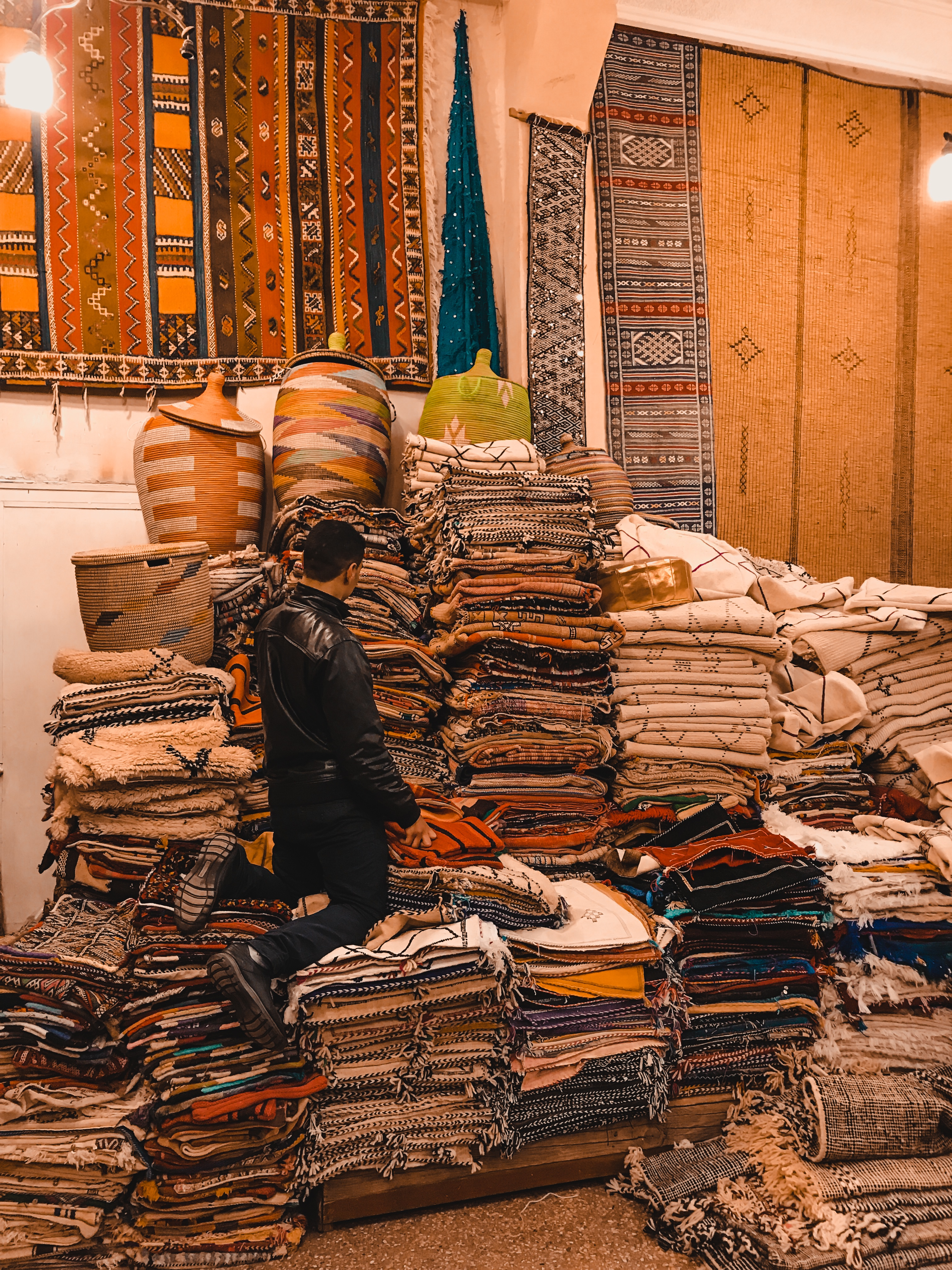 shopping for souvenirs in Morocco